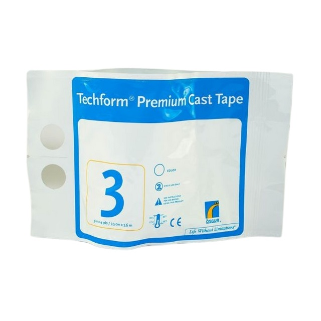 OSSUR Techform Premium Fibreglass Casting Tape 7.5 cm (1 Roll)